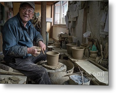 A Village Pottery Studio, Japan Metal Print