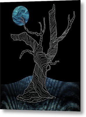 Abstract Gnarly Tree Metal Print by Serena King