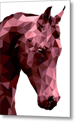 Abstract Horse Metal Print by Gallini Design