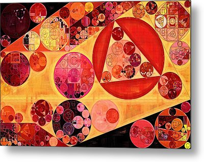 Abstract Painting - Bulgarian Rose Metal Print