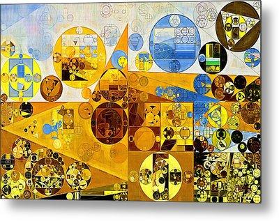 Abstract Painting - Morocco Brown Metal Print