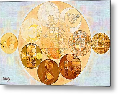 Abstract Painting - Rich Gold Metal Print