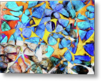 Abstract Painting Metal Print by Tom Gowanlock