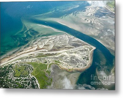 Aerial Vew Of Sandy Neck Beach In Barnstable On Cape Cod Massac Metal Print by Matt Suess