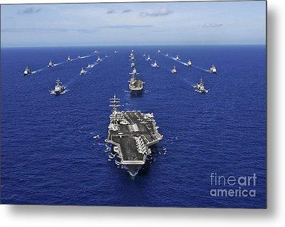 Aircraft Carrier Uss Ronald Reagan Metal Print by Stocktrek Images