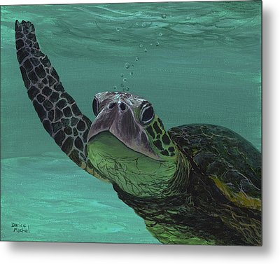 Metal Print featuring the painting Aloha From Maui by Darice Machel McGuire