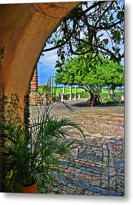 Altos De Chavon Texture. Metal Print by Andy Za