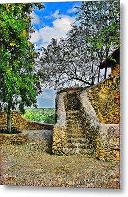 Altos De Chavon Texture. Republica Dominicana. Metal Print by Andy Za