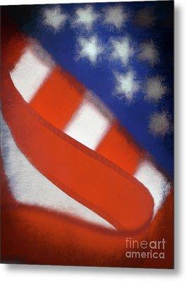 American Flag Metal Print by George Robinson