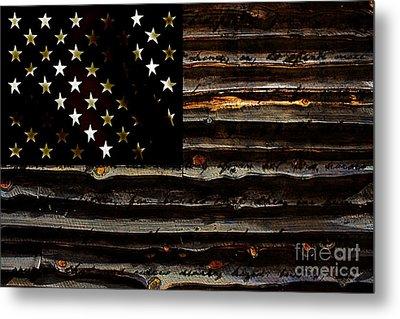 American Flag Metal Print by Marvin Blaine