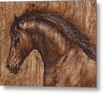 Ancient Glory Metal Print by Paula Collewijn -  The Art of Horses