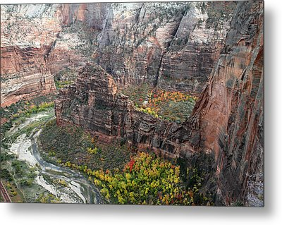 Angels Landing In Zion Metal Print by Pierre Leclerc Photography