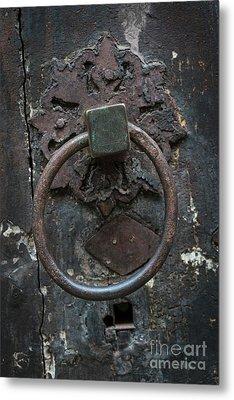 Metal Print featuring the photograph Antique Door Knocker by Elena Elisseeva
