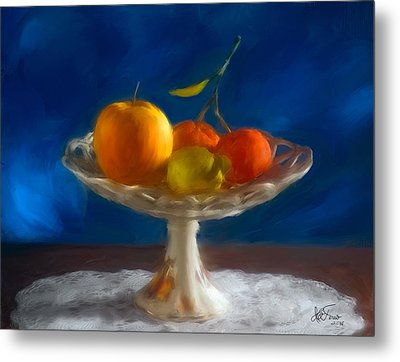 Metal Print featuring the photograph Apple, Lemon And Mandarins. Valencia. Spain by Juan Carlos Ferro Duque