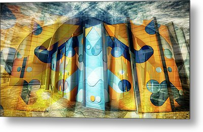 Metal Print featuring the photograph Architectural Abstract by Wayne Sherriff