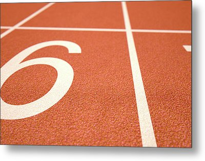 Athletics Track Startline Metal Print by Allan Swart