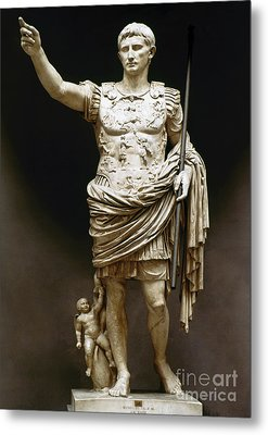 Augustus (63 B.c.-14 A.d.) Metal Print by Granger