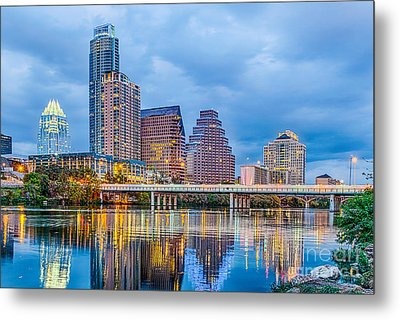 Austin Skyline At Dark Metal Print by Tod and Cynthia Grubbs