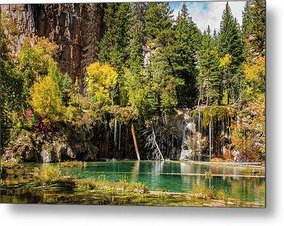Autumn At Hanging Lake Waterfall - Glenwood Canyon Colorado Metal Print