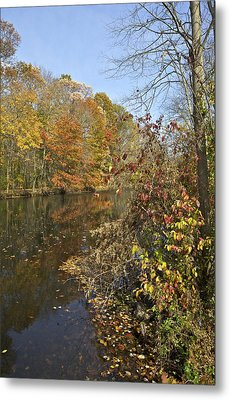 Autumn Colors On The Canal Metal Print