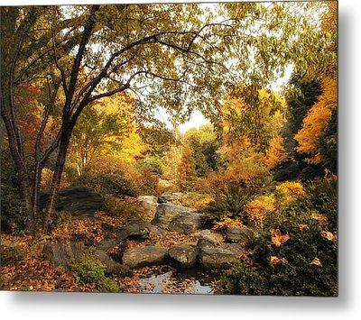 Autumn Garden Metal Print by Jessica Jenney