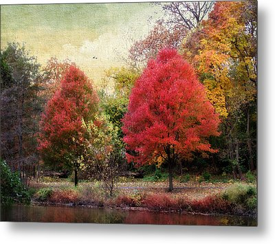 Autumn's Canvas Metal Print by Jessica Jenney