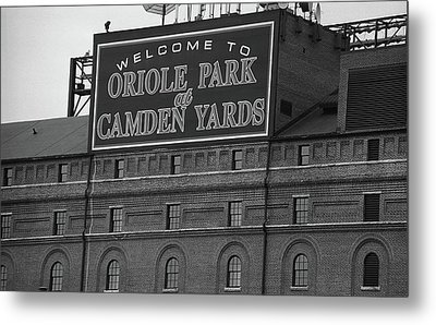 Baltimore Orioles Park At Camden Yards Bw Metal Print