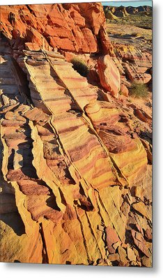 Metal Print featuring the photograph Bands Of Color In Valley Of Fire by Ray Mathis