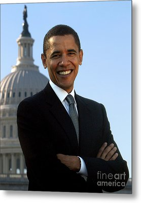 Barack Obama Metal Print by Celestial Images