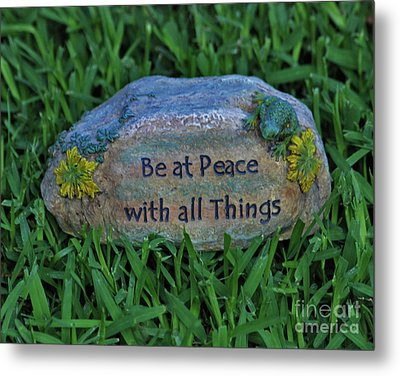 Metal Print featuring the photograph 2- Be At Peace by Joseph Keane