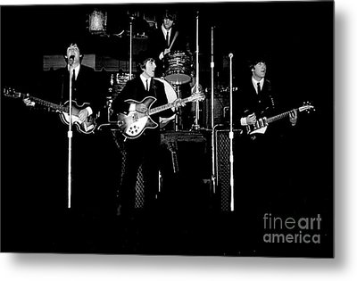 Beatles In Concert 1964 Metal Print by Larry Mulvehill