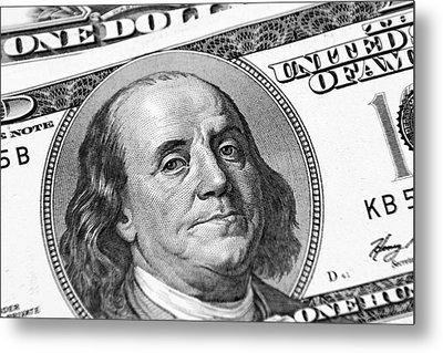 Benjamin Franklin Metal Print by Les Cunliffe