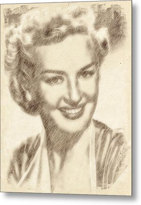 Betty Grable Hollywood Icon By John Springfield Metal Print