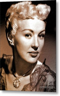 Betty Grable Vintage Hollywood Pinup Metal Print