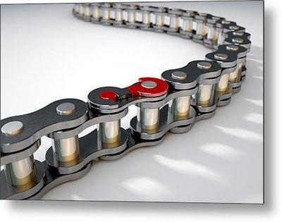 Bicycle Chain Missing Link Metal Print