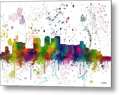 Birmingham Alabama Skyline Metal Print