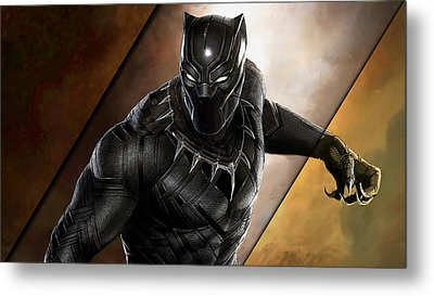Black Panther Collection Metal Print
