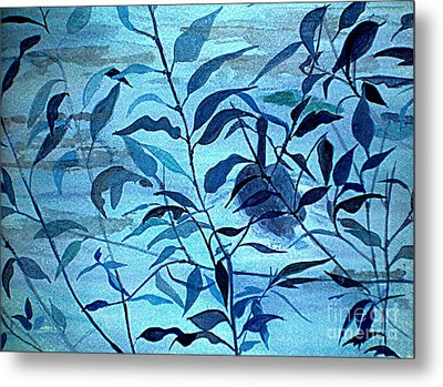 Blue On Blue Metal Print by Vivian  Mosley