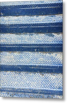 Blue Steps Metal Print