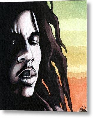 Bob Marley Portrait Metal Print by Alban Dizdari
