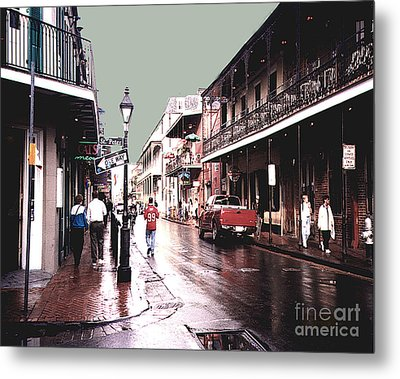 Metal Print featuring the photograph Bourbon Street After The Rain by Merton Allen