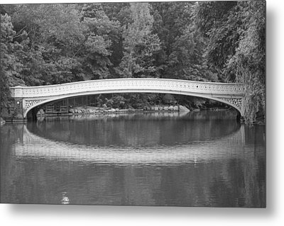 Bow Bridge Central Park Metal Print by Christopher Kirby