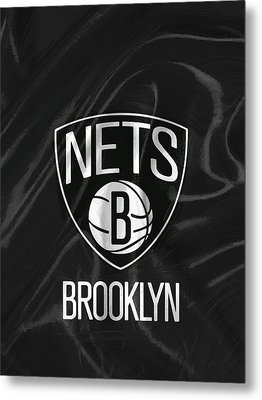 Brooklyn Nets Metal Print by Afterdarkness