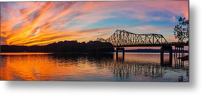 Browns Bridge Sunset Metal Print by Michael Sussman