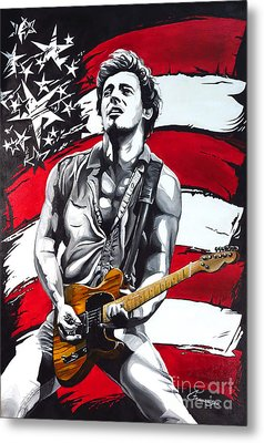 Bruce Springsteen Metal Print by Francesca Agostini