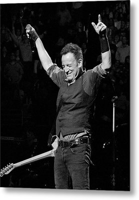 Bruce Springsteen Metal Print by Jeff Ross