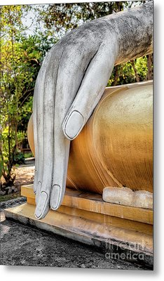 Metal Print featuring the photograph Buddha Hand by Adrian Evans