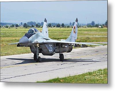 Bulgarian Air Force Mig-29 Fulcrum Metal Print