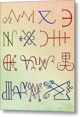 Cabbalistic Signs And Sigils, 18th Metal Print by Science Source