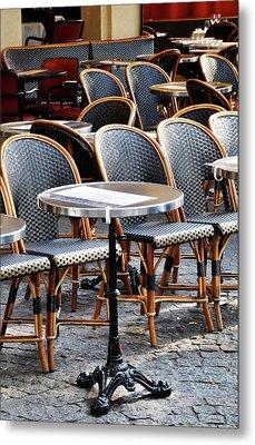 Cafe Terrace In Paris Metal Print